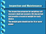 inspection and maintenance4