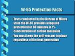 w 65 protection facts