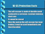 w 65 protection facts2