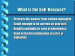 what is the self rescuer