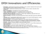 dfeh innovations and efficiencies
