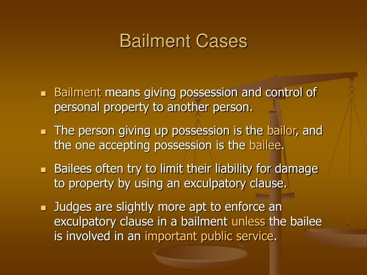 bailment case Peet v roth hotel co 191 minn 151 the ring was a bailment but in this case the desk clerk knew that he was holding a valuable ring.