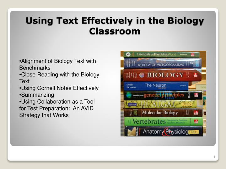 Using text effectively in the biology classroom