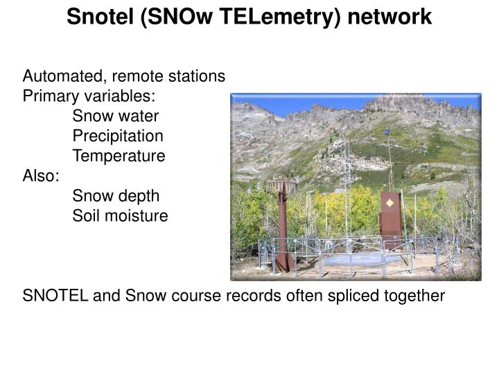 Snotel (SNOw TELemetry) network