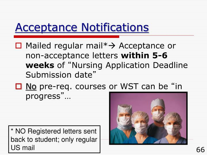 Acceptance Notifications