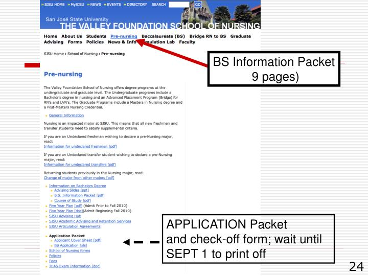 BS Information Packet