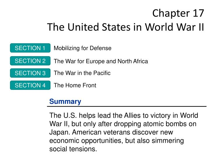 chapter 17 the united states in world war ii n.