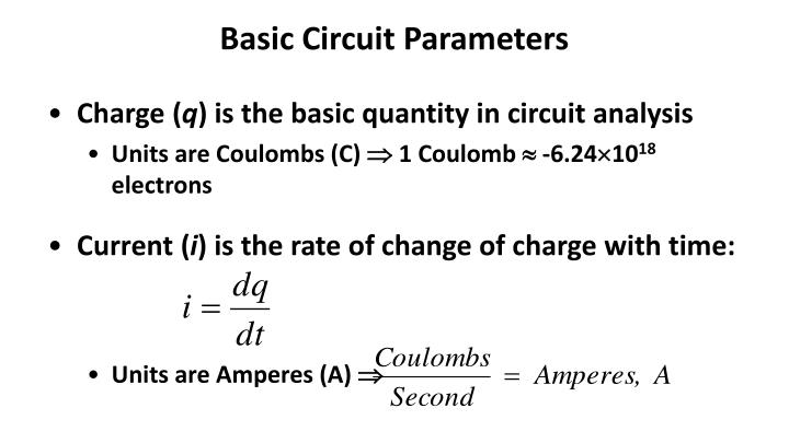 Basic Circuit Parameters