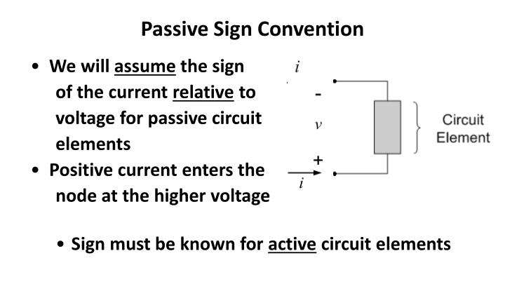Passive Sign Convention