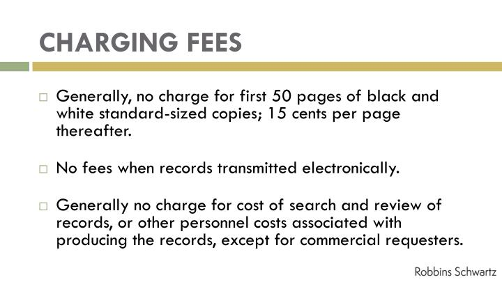 CHARGING FEES