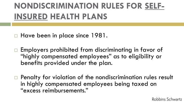 NONDISCRIMINATION RULES FOR
