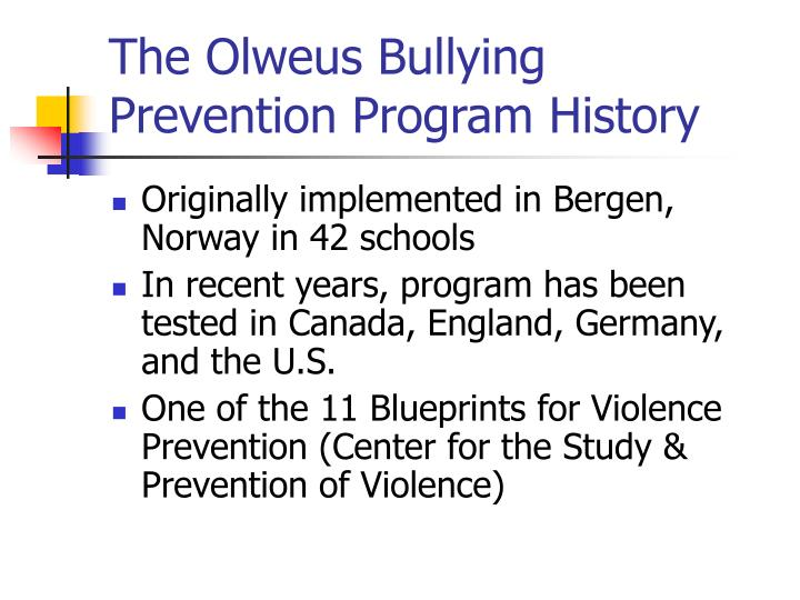 Ppt the olweus bullying prevention program powerpoint presentation the olweus bullying prevention program history malvernweather Choice Image