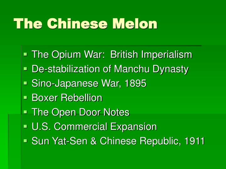 The Chinese Melon