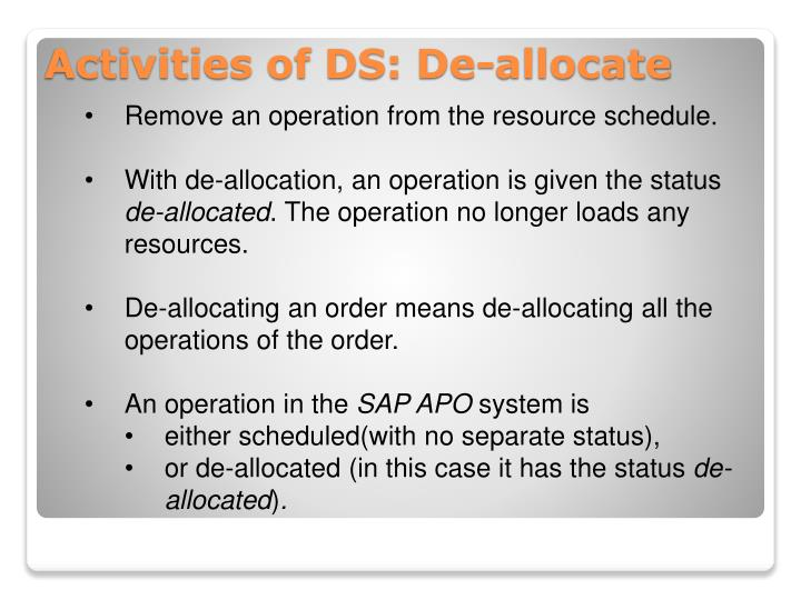 Remove an operation from the resource schedule.