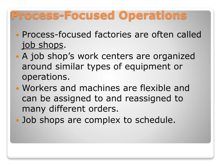 Process-focused factories are often called