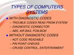 types of computers systems