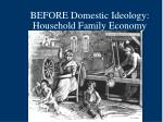 before domestic ideology household family economy