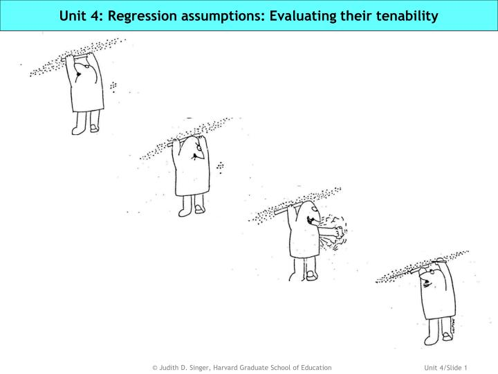 Unit 4 regression assumptions evaluating their tenability