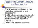 response to osmotic pressure and temperature1