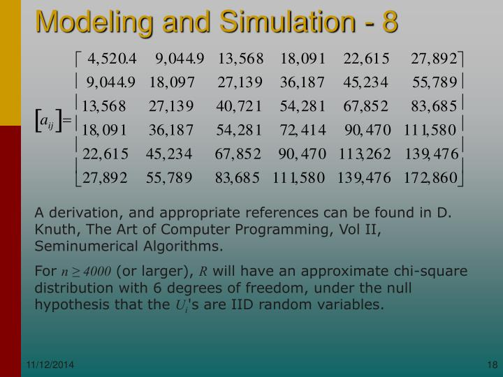 A derivation, and appropriate references can be found in D. Knuth, The Art of Computer Programming, Vol II, Seminumerical Algorithms.