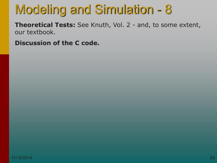 Theoretical Tests: