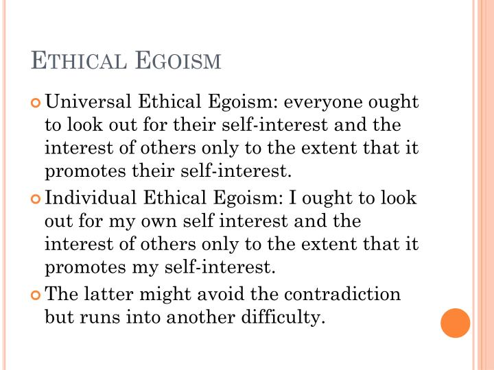 what is universal ethical egoism