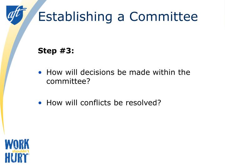 Establishing a Committee