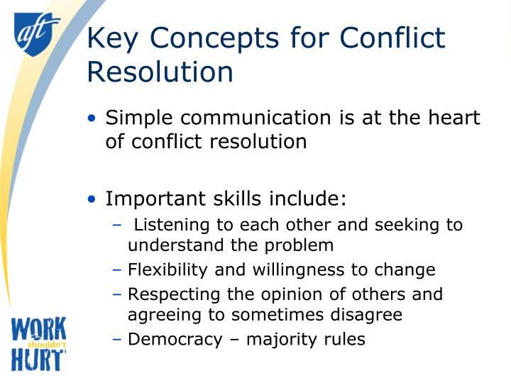 Key Concepts for Conflict Resolution