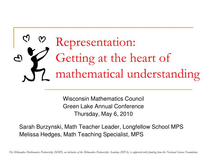 representation getting at the heart of mathematical understanding n.