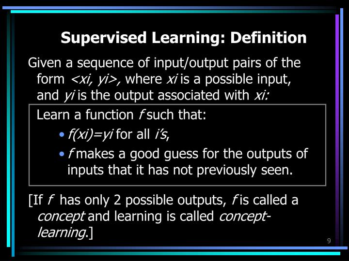 Supervised Learning: Definition
