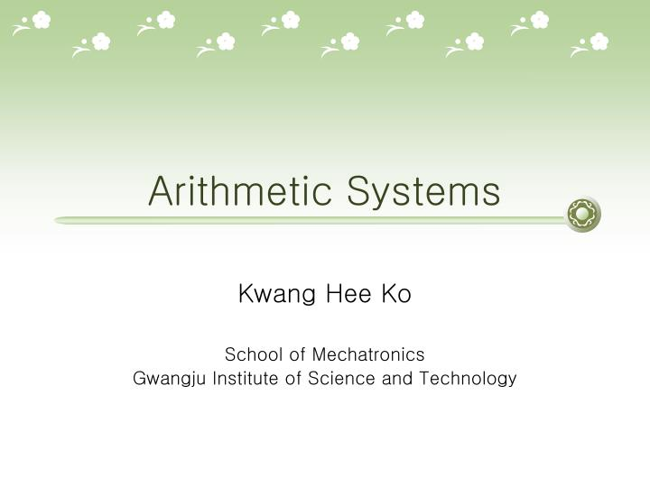 arithmetic systems n.