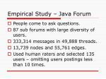 empirical study java forum