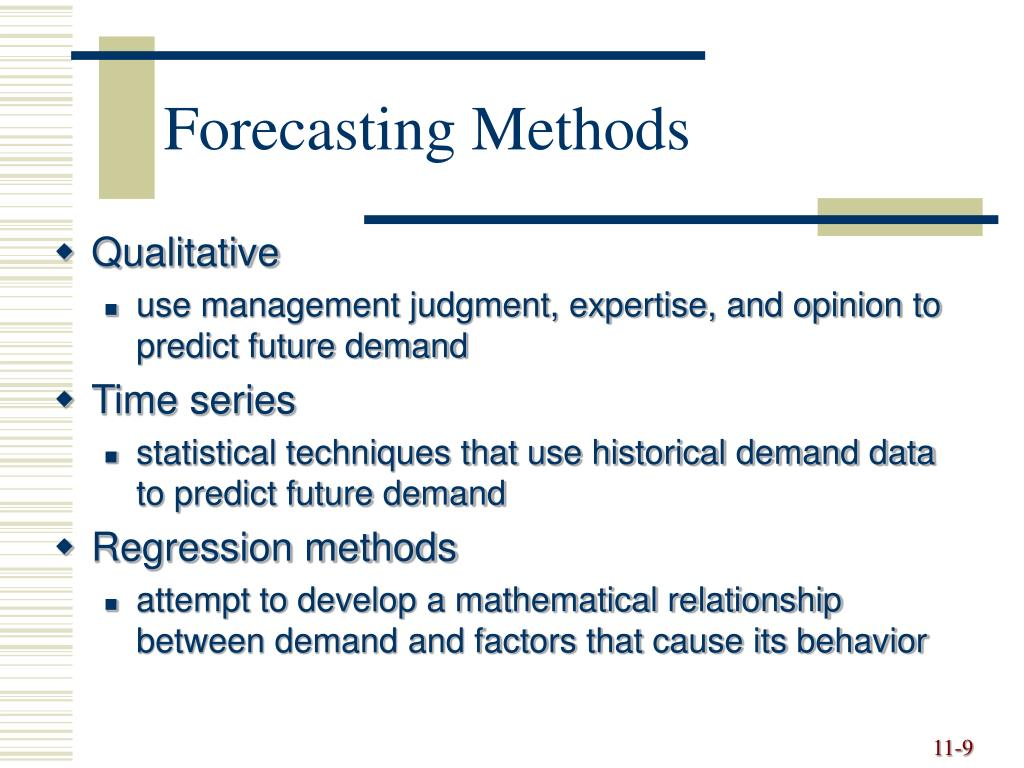 PPT - Forecasting PowerPoint Presentation - ID:6520826