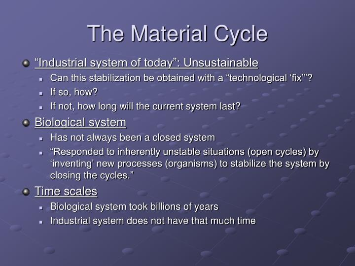 The Material Cycle