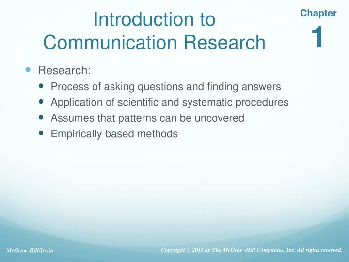 PPT - Introduction to Communication Research PowerPoint