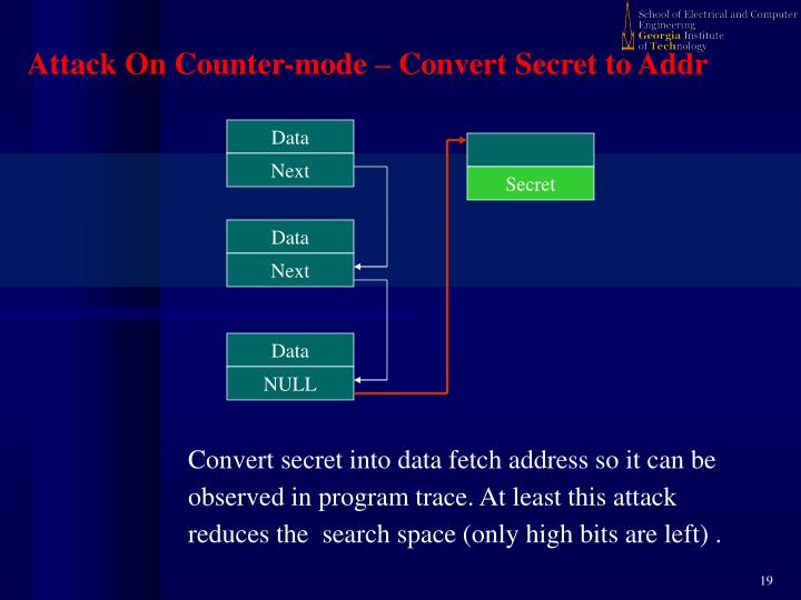 Convert secret into data fetch address so it can be