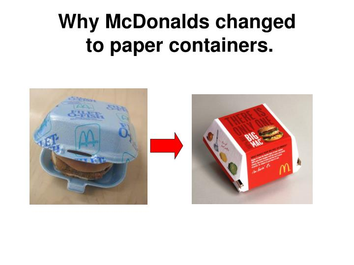 Why McDonalds changed