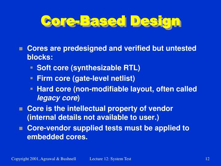 Core-Based Design