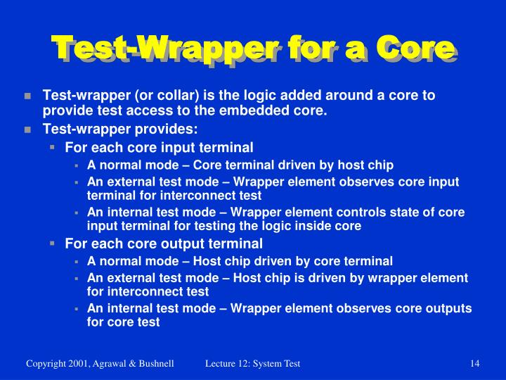 Test-Wrapper for a Core