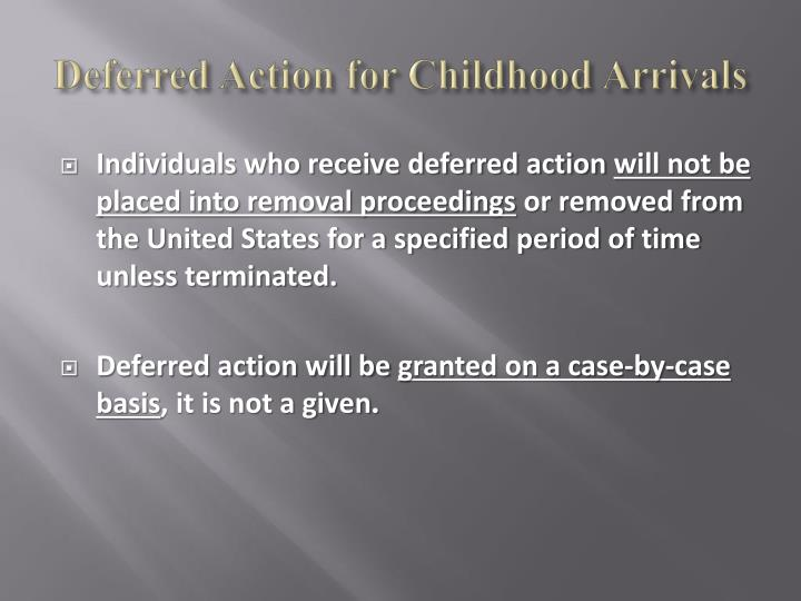 Deferred Action for Childhood
