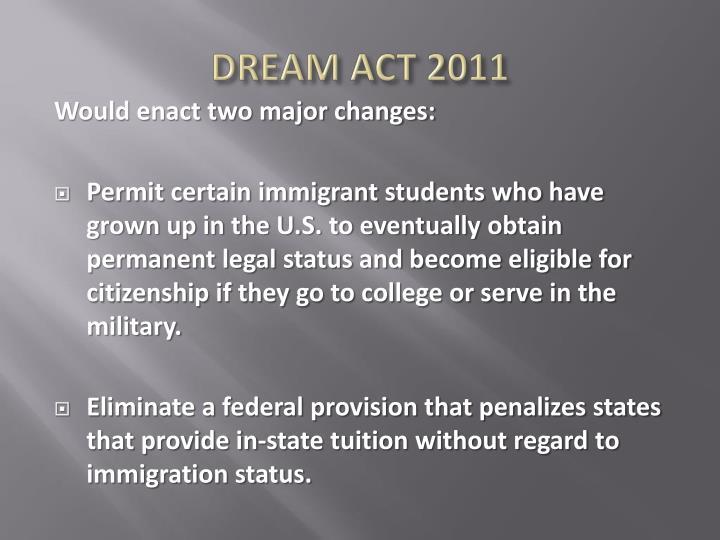 DREAM ACT 2011