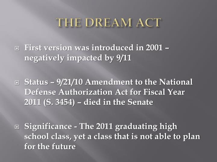 The dream act1
