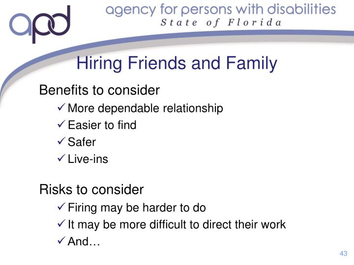 Hiring Friends and Family