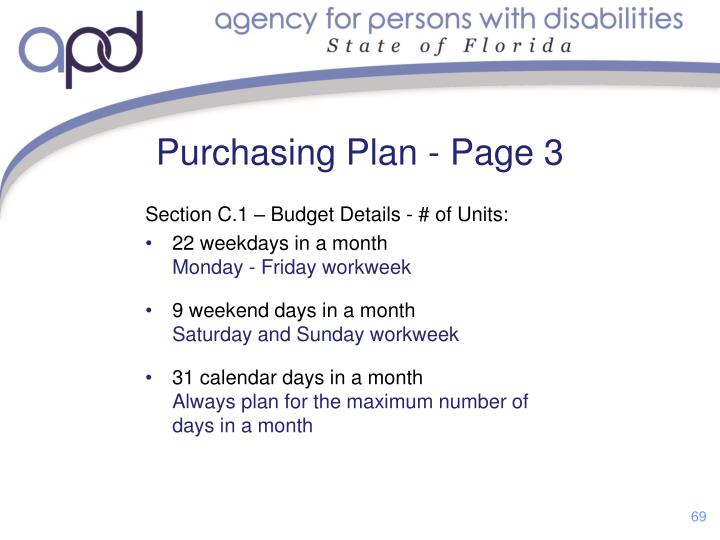 Section C.1 – Budget Details - # of Units: