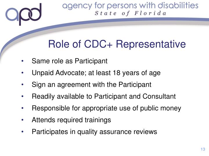 Role of CDC+ Representative