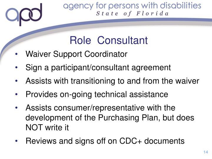 Role  Consultant