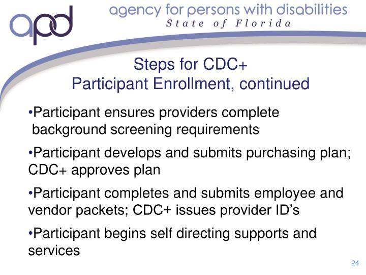 Steps for CDC+