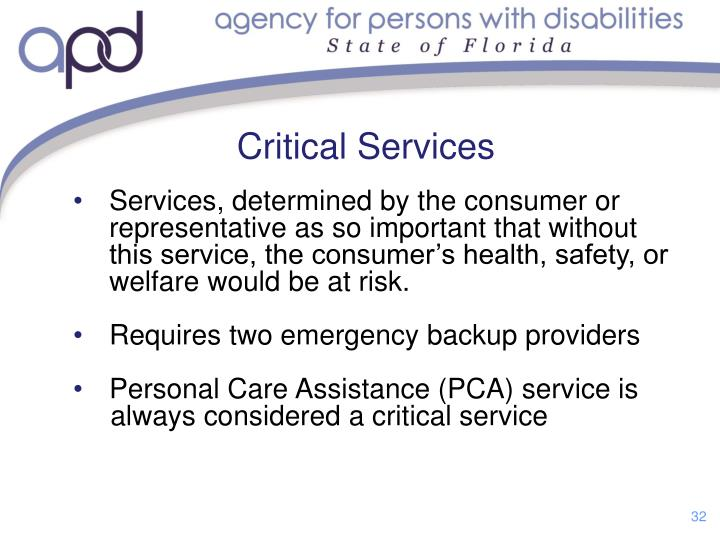 Critical Services