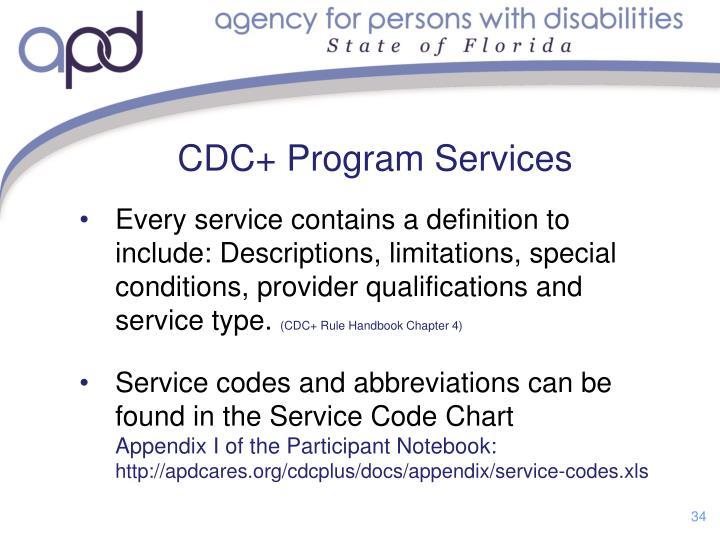 CDC+ Program Services
