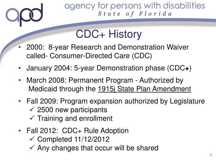 CDC+ History